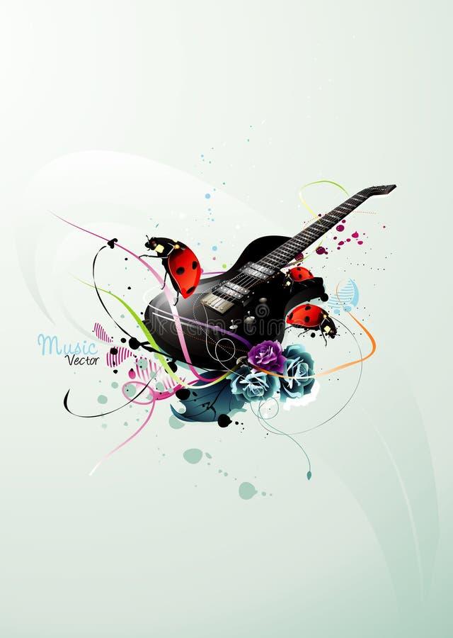 Composição do vetor da música ilustração royalty free