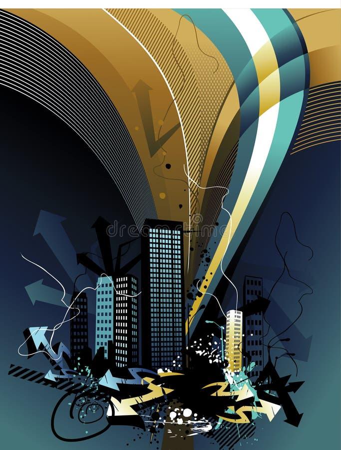 Composição do vetor do edifício ilustração do vetor