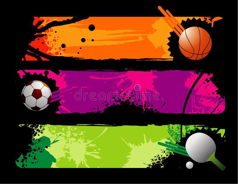 Composição do vetor dos esportes ilustração royalty free