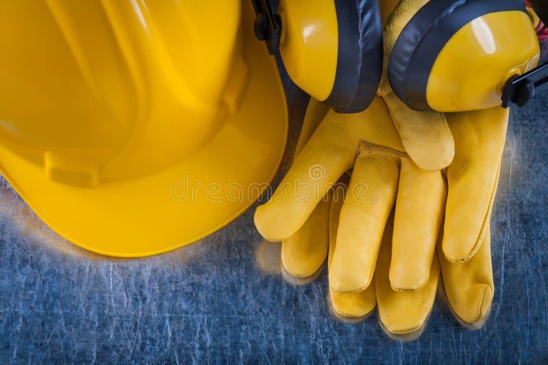 Composição do workwear da segurança no riscado imagem de stock