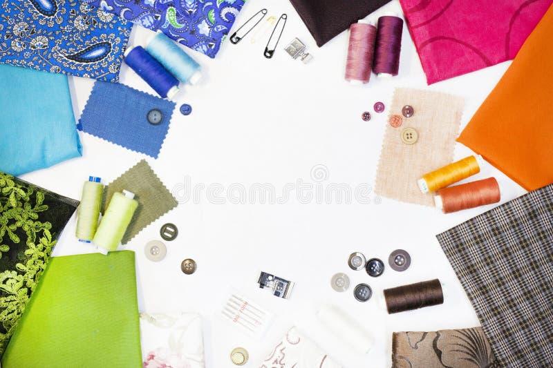 A composição dos elementos para costurar fotografia de stock
