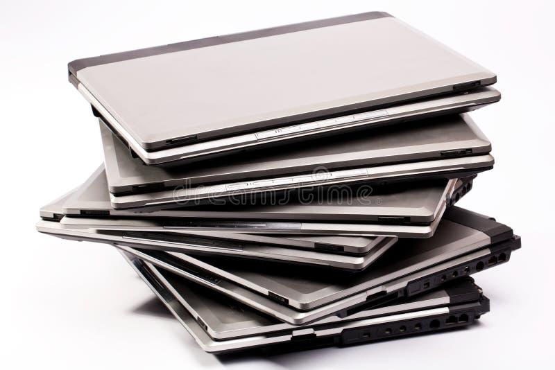 Composição dos portáteis fotografia de stock royalty free