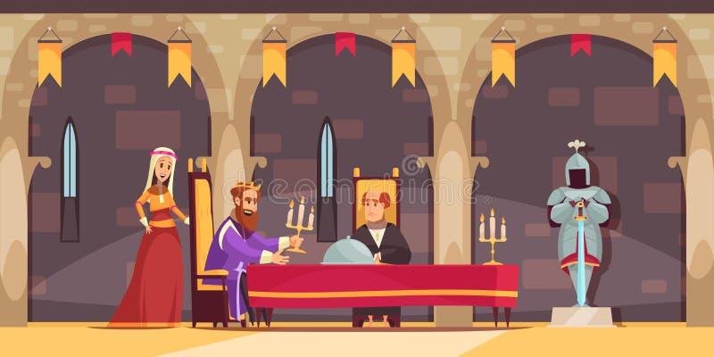 Composição dos povos do castelo ilustração stock