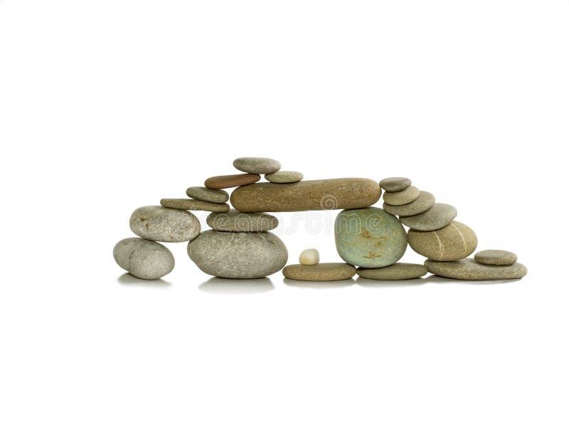 A composição dos seixos de pedra 2 fotografia de stock