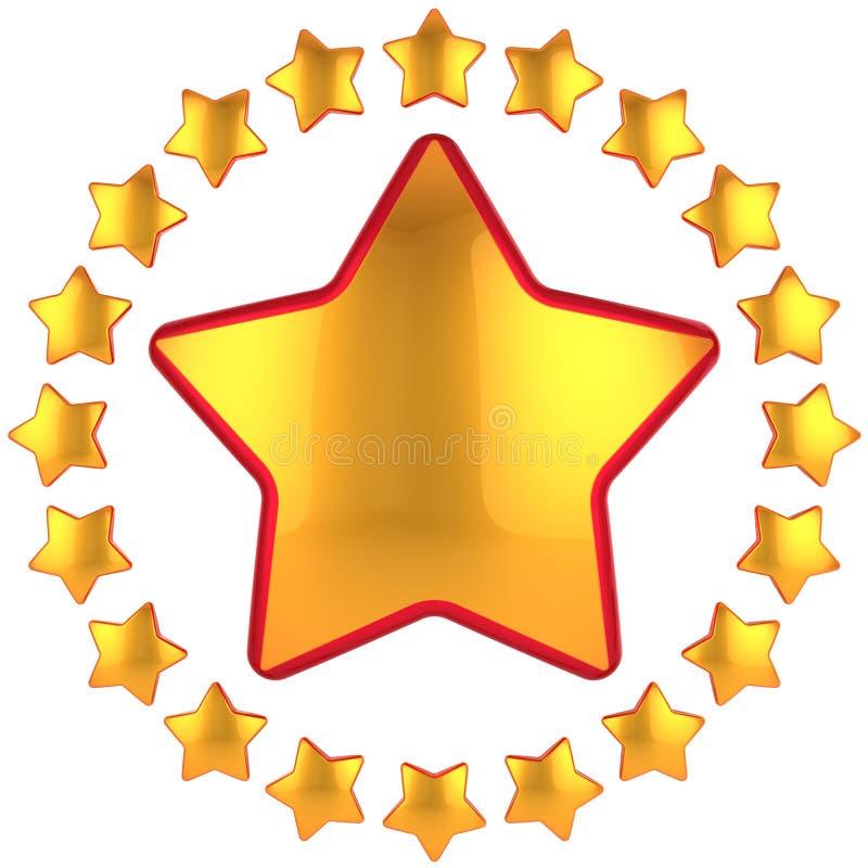 Composição dourada das estrelas (alugueres) ilustração stock