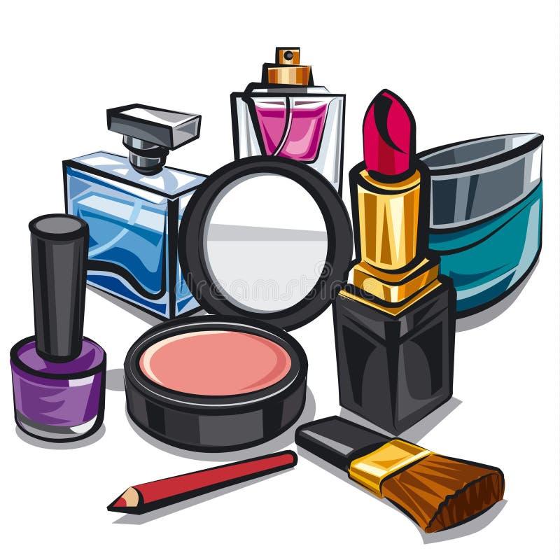 Composição e perfumes ilustração do vetor
