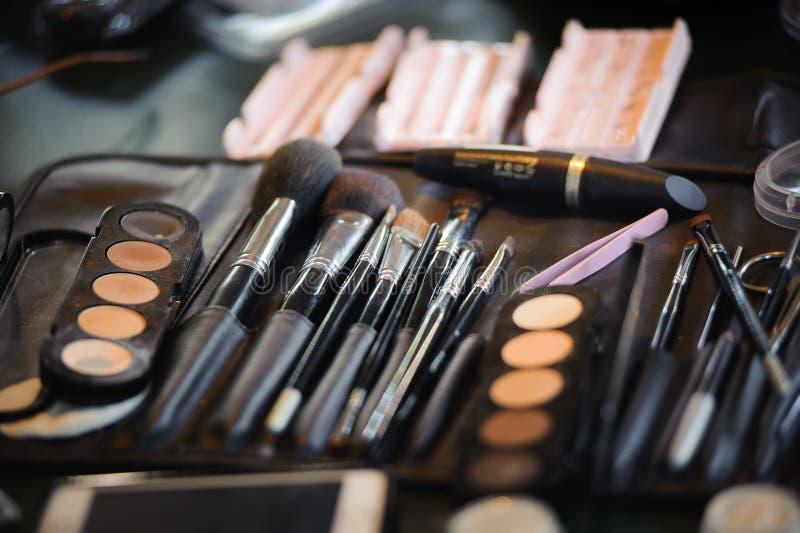 Composição e produtos dos cosméticos imagem de stock royalty free