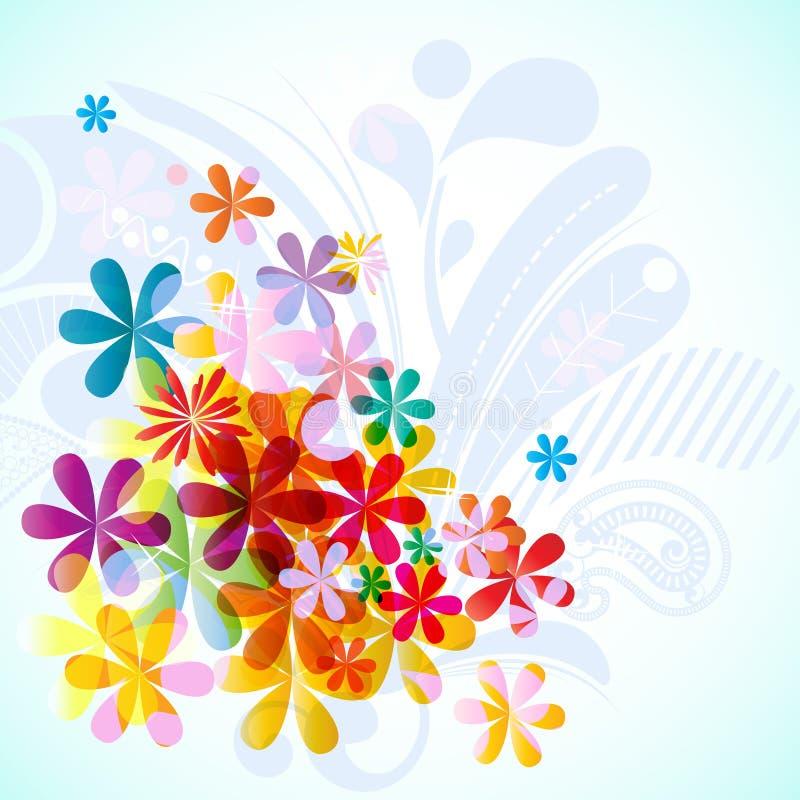 Composição floral da mola ilustração royalty free