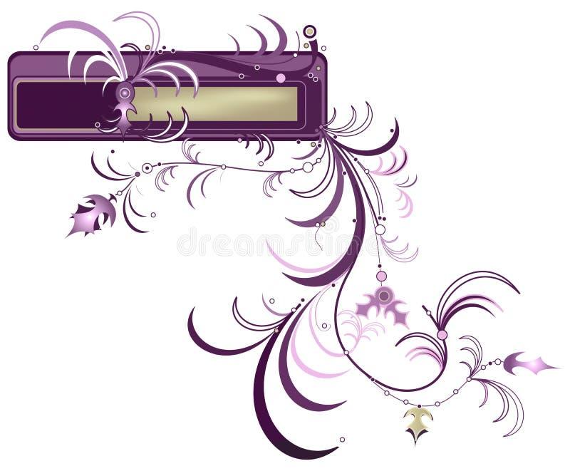 Composição floral de Grunge ilustração stock