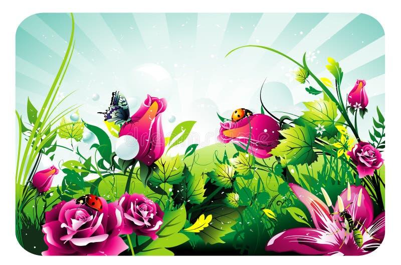 Composição floral do vetor ilustração royalty free