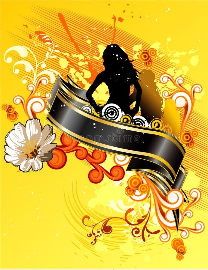 Composição floral do vetor ilustração stock