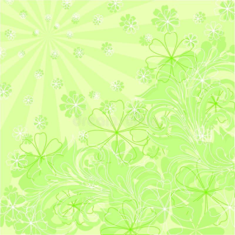 Composição floral verde do vetor ilustração do vetor