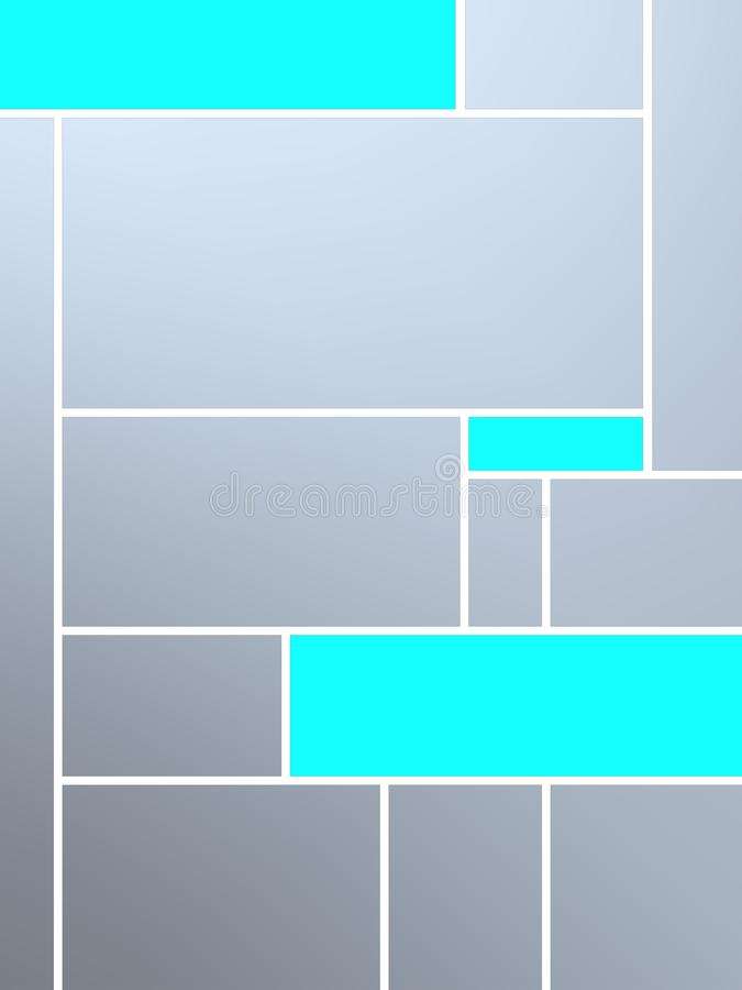 Composição geametric fresca do tributo a Mondrian ilustração do vetor