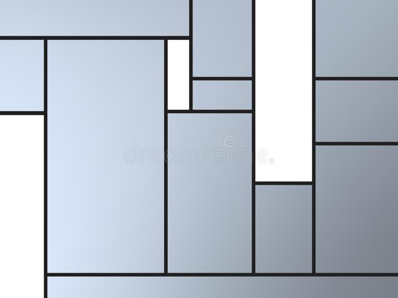 Composição geametric fresca do tributo a Mondrian ilustração stock