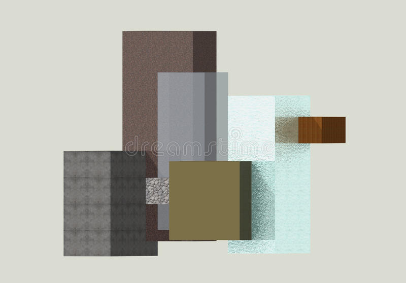 Composição geométrica 1 de Paralelograms foto de stock