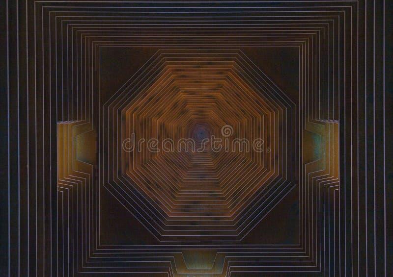 Composição geométrica do aço de Corten foto de stock royalty free