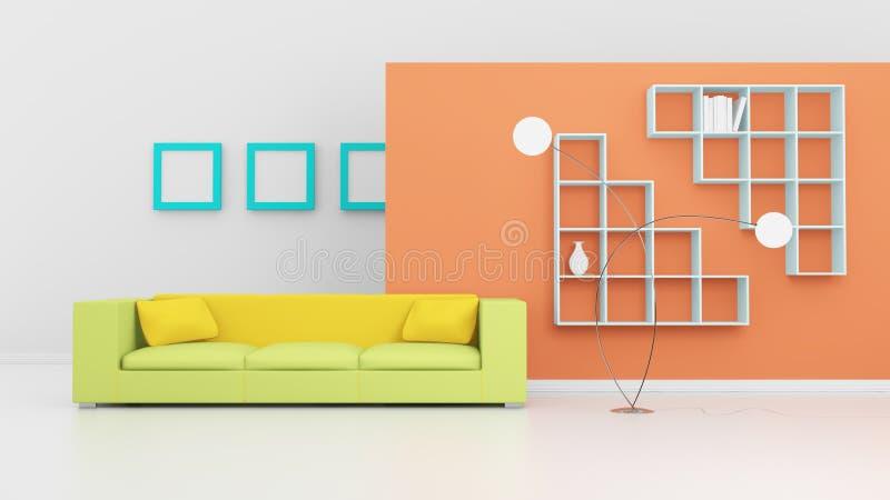 Composição interior moderna. ilustração do vetor