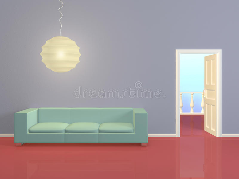 Composição interior moderna. ilustração royalty free