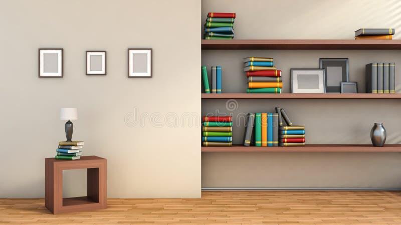 Composição interior moderna com imagens vazias em wal, vaso ilustração do vetor