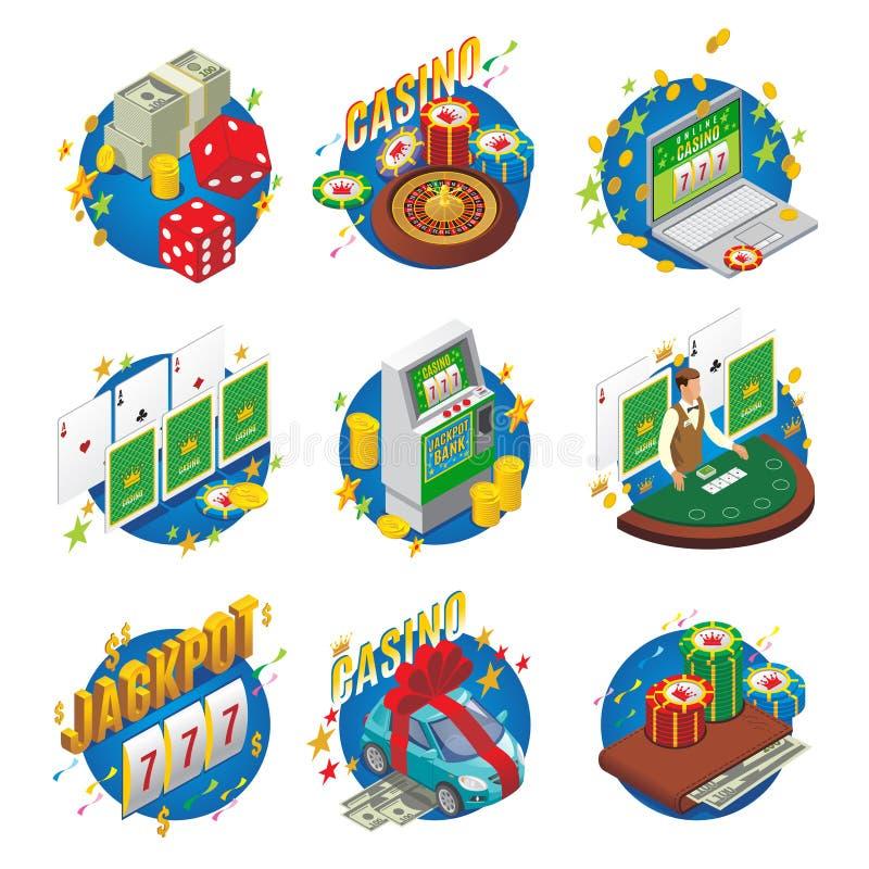 Composição isométrica do casino ilustração stock
