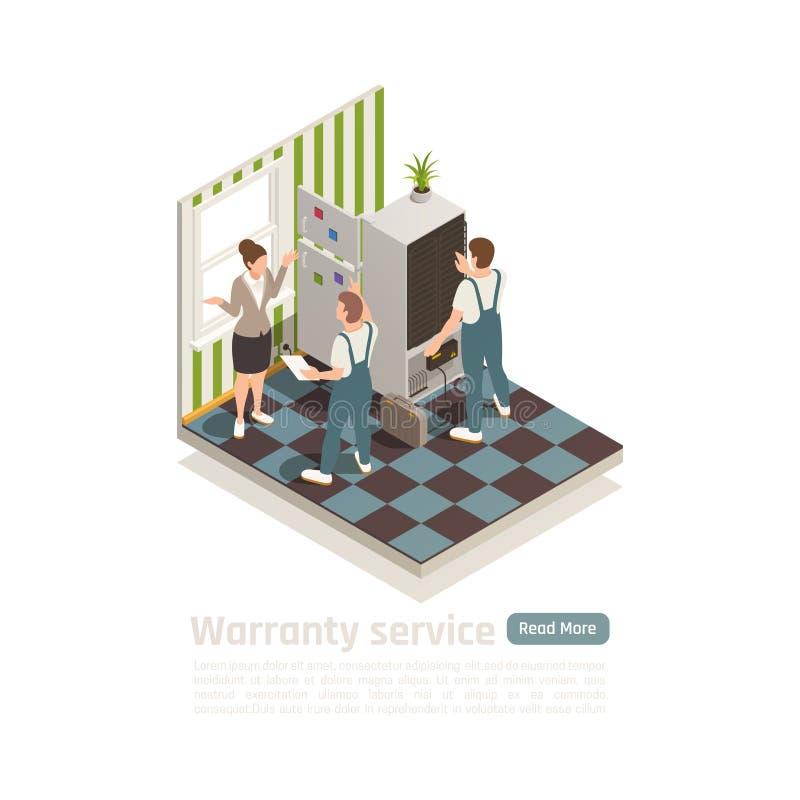Composição isométrica do serviço da garantia ilustração stock