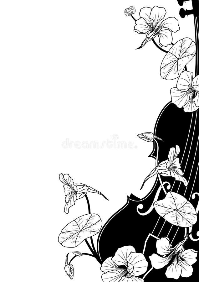 Composição musical floral do vetor ilustração stock