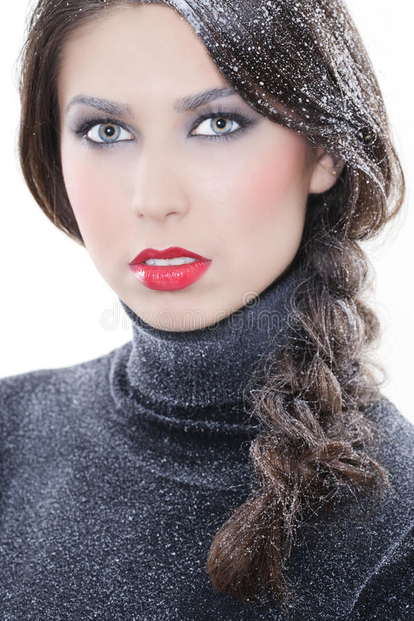 Composição 'sexy' do inverno fotografia de stock