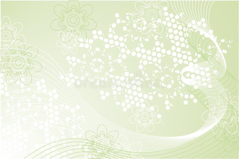 Composição verde ilustração stock