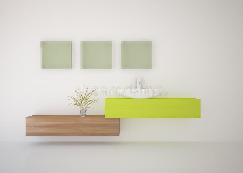 Composição verde do banheiro ilustração stock