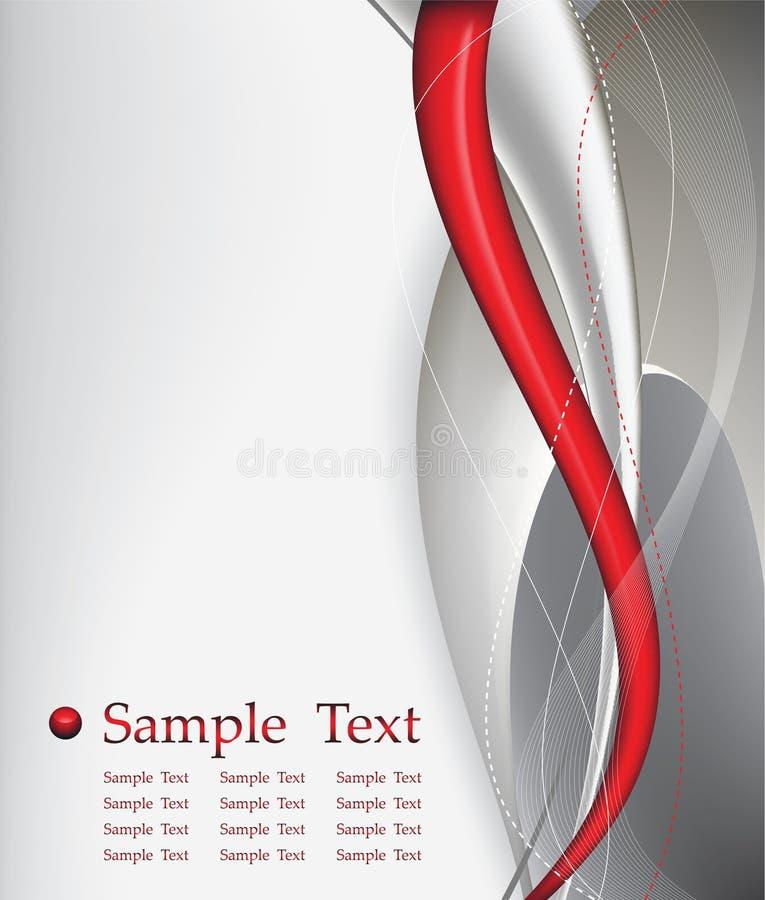 Composição vermelha do fundo do sumário da tecnologia ilustração stock