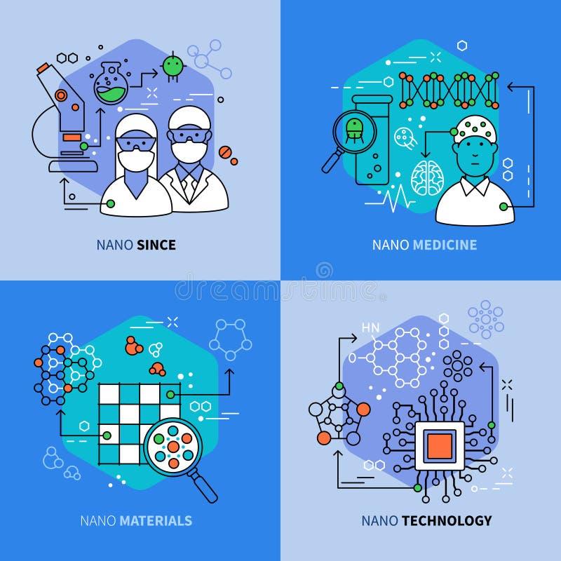 Composições lineares da nanotecnologia ilustração royalty free