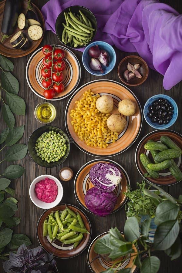 Composi??o de alimento Alimento biológico, saudável, logotipo, comendo, mercado, caro, criativo, fresco, restaurante, crescendo fotografia de stock