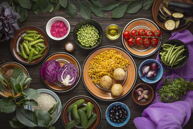 Composi??o de alimento Alimento biológico, saudável, logotipo, comendo, mercado, caro, criativo, fresco, restaurante, crescendo imagem de stock
