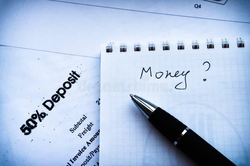 Composi??o do neg?cio Declaração de rendimentos, plano de negócios com pena e caderno imagens de stock