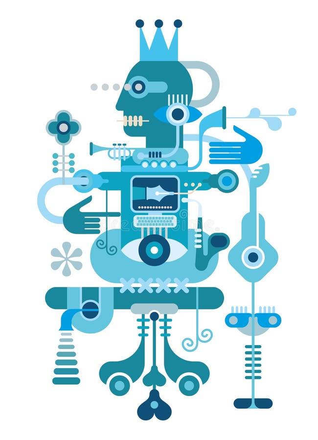 Composición abstracta azul stock de ilustración