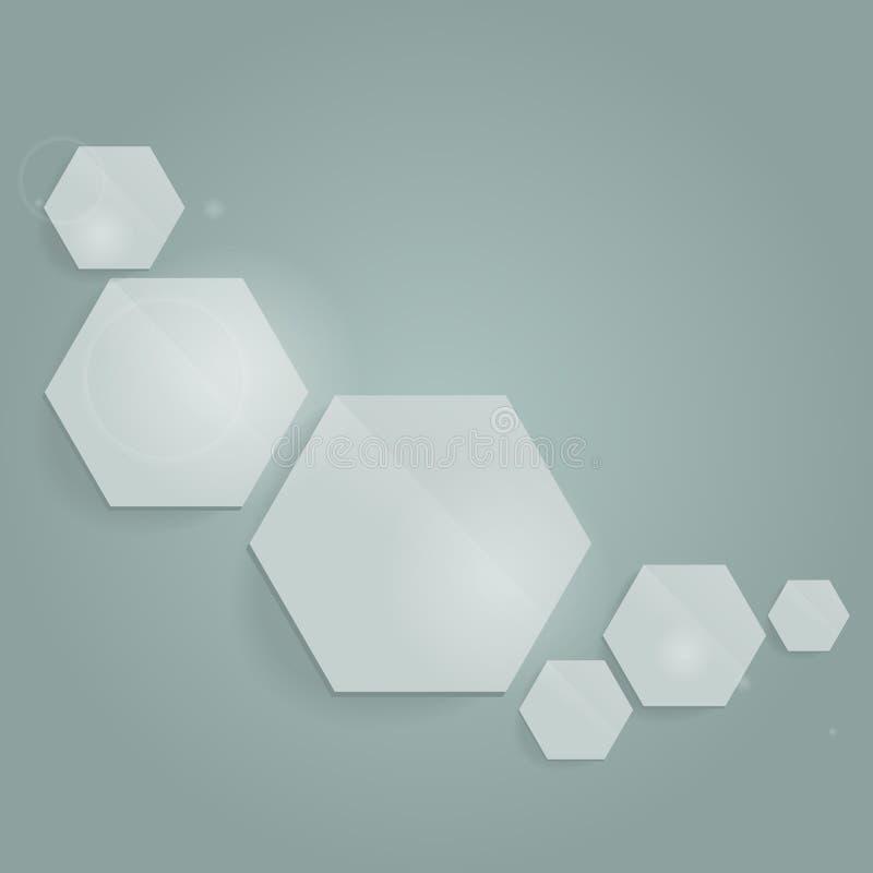 Composición abstracta con hexágonos libre illustration