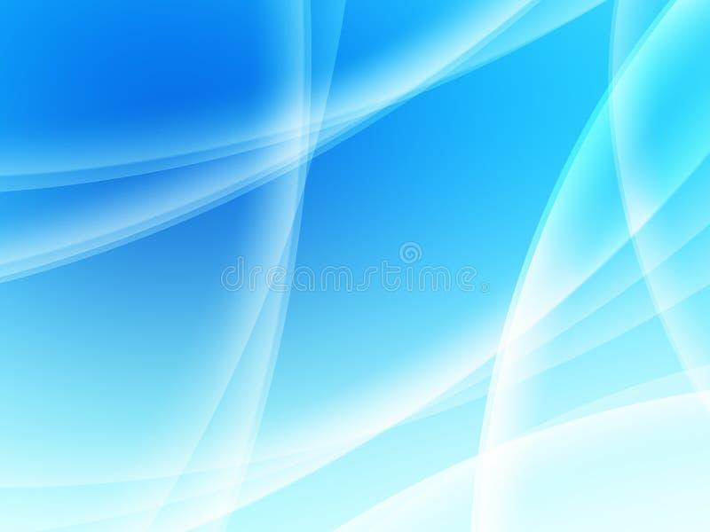 Composición abstracta con las curvas, líneas, gradientes stock de ilustración