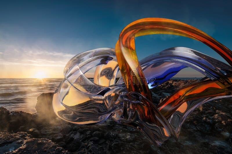 composición abstracta 3d ilustración del vector