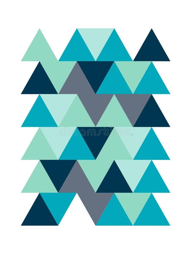 Composición abstracta de formas geométricas Huella digital ilustración del vector