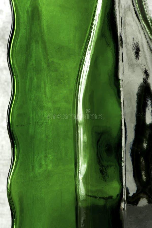 Composición abstracta de las botellas de cristal macras fotos de archivo