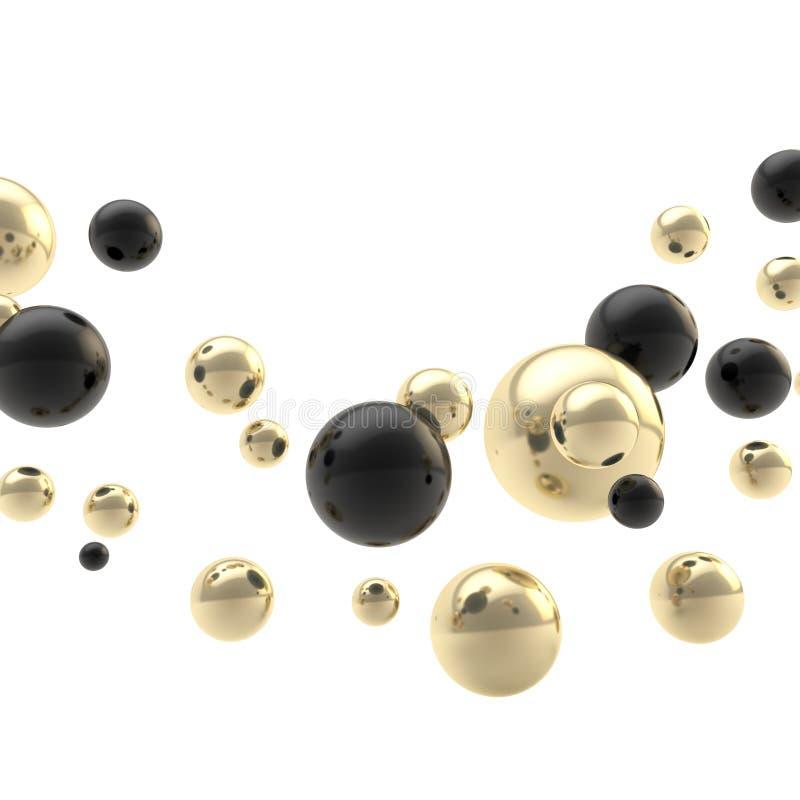 Composición abstracta del fondo hecha de esferas stock de ilustración