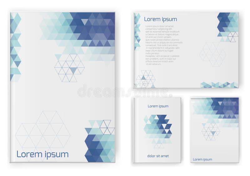 Composición abstracta, sistema de la tarjeta de visita Hoja del diseño A4 ilustración del vector