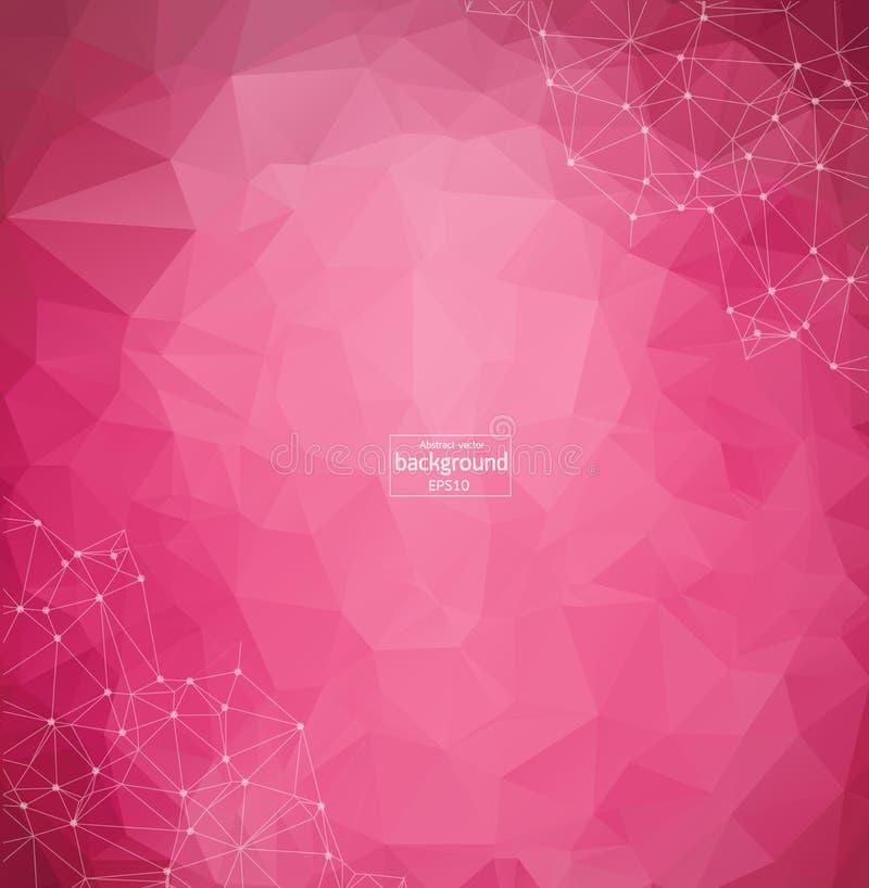 Composición abstracta Textura futurista de la fuente de la tecnología Puntos cibernéticos blancos Figura creativa de la bandera w stock de ilustración