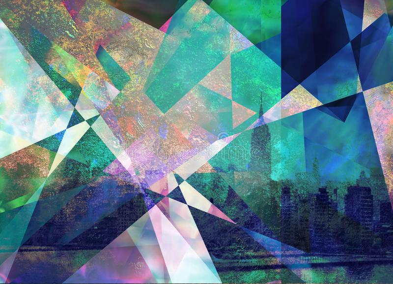 Composición abstracta urbana contemporánea ilustración del vector