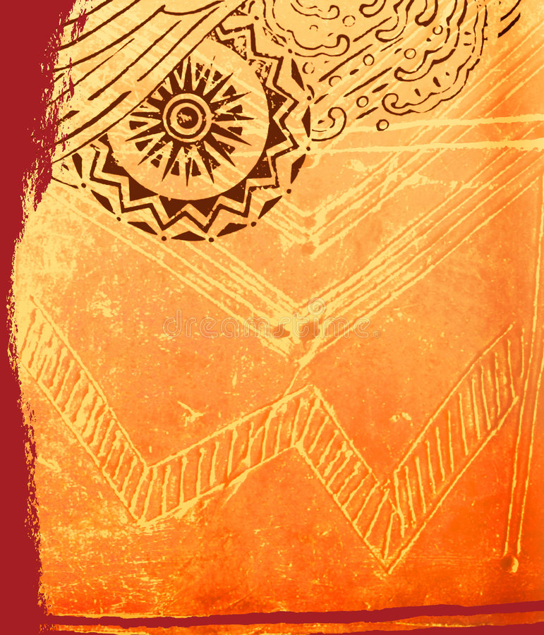 Composición africana ilustración del vector