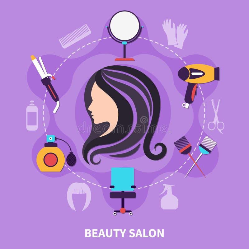 Composición coloreada peluquero libre illustration