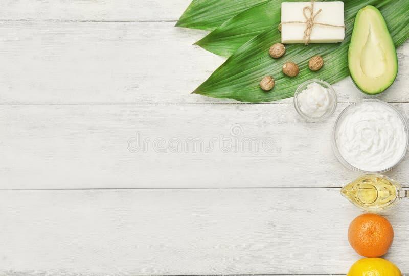 Composición con mantequilla e ingredientes de mandingo fotografía de archivo libre de regalías