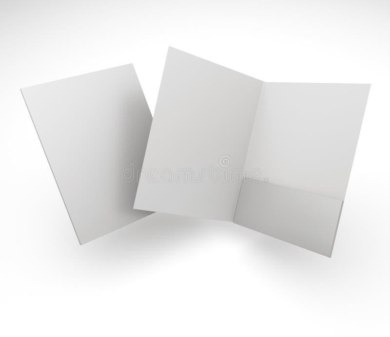 Composición de carpetas en blanco fotos de archivo