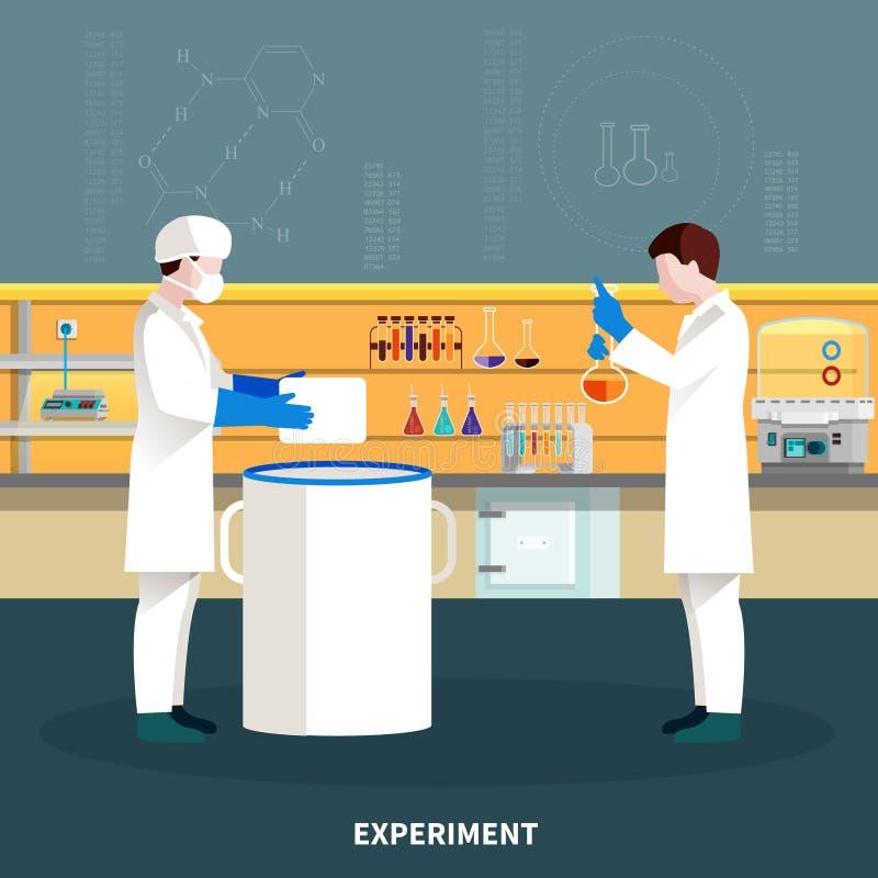 Composición de dos personas de los científicos libre illustration