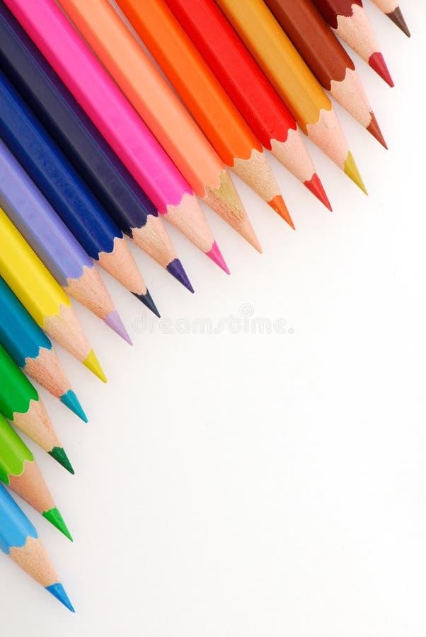 Composición de lápices multicolores imagenes de archivo